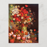 "Van Gogh — Vase with Poppies, Cornflowers, Peonies Postcard<br><div class=""desc"">Van Gogh painting,  Vase with Poppies,  Cornflowers,  Peonies and Chrysanthemums,  postcard.</div>"