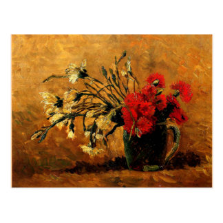 Van Gogh - Vase with Red and White Carnations Postcard