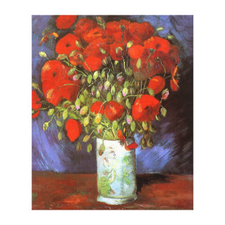 Van Gogh: Vase with Red Poppies Canvas Prints