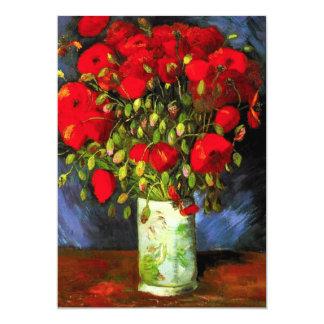 Van Gogh Vase With Red Poppies Card