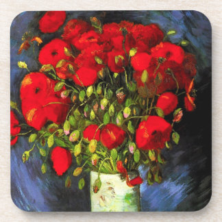 Van Gogh Vase With Red Poppies Coaster