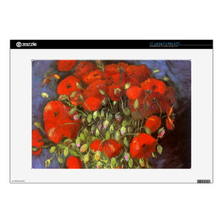 Van Gogh: Vase with Red Poppies Decal For Laptop
