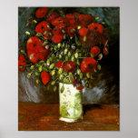 Van Gogh Vase With Red Poppies (F279) Fine Art Print