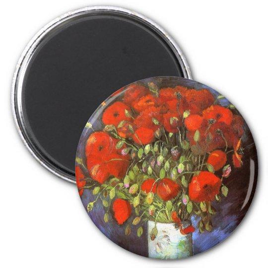 Van Gogh: Vase with Red Poppies Magnet
