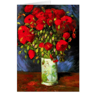 Van Gogh Vase With Red Poppies Note Card