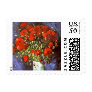 Van Gogh: Vase with Red Poppies Postage