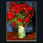 "Van Gogh Vase With Red Poppies Postcard<br><div class=""desc"">Van Gogh vase with Red Poppies postcard. Oil painting on canvas from 1886. Vase with Red Poppies is one of Van Gogh's most popular flower paintings. The artist devoted multiple works to the poppy, and this dynamic still life is perhaps his most vibrant. A great gift for fans of van...</div>"