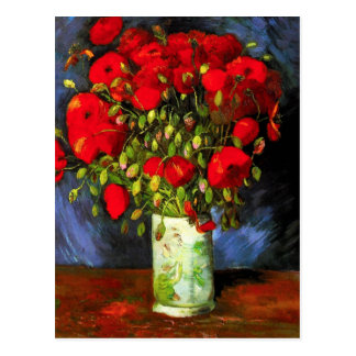 Van Gogh Vase With Red Poppies Postcard