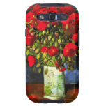 Van Gogh Vase With Red Poppies Samsung Galaxy Case Galaxy SIII Covers