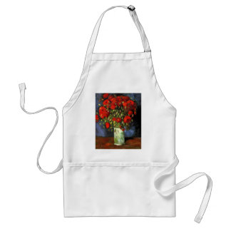 Van Gogh Vase with Red Poppies, Vintage Fine Art Adult Apron