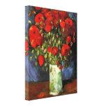 Van Gogh Vase with Red Poppies, Vintage Fine Art Canvas Print