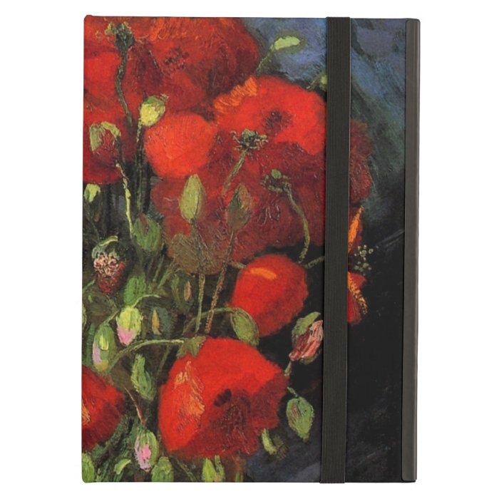 Van Gogh Vase with Red Poppies, Vintage Fine Art Cover For iPad Air