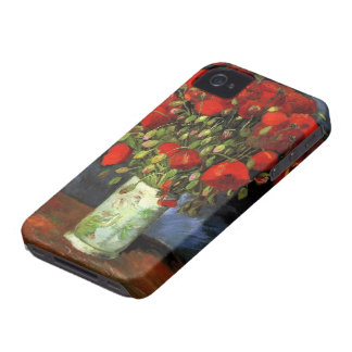 Van Gogh Vase with Red Poppies, Vintage Fine Art iPhone 4 Cover