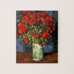 Van Gogh Vase with Red Poppies, Vintage Fine Art Jigsaw Puzzles