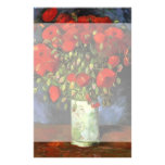 Van Gogh Vase with Red Poppies, Vintage Fine Art Stationery