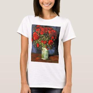 Van Gogh Vase with Red Poppies, Vintage Fine Art T-Shirt