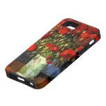Van Gogh Vase with Red Poppies, Vintage Flower Art iPhone 5 Cover