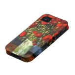Van Gogh Vase with Red Poppies, Vintage Flower Art Case-Mate iPhone 4 Cover