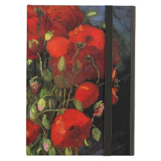 Van Gogh Vase with Red Poppies, Vintage Flower Art iPad Air Case