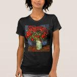 Van Gogh Vase with Red Poppies, Vintage Flower Art Tee Shirts