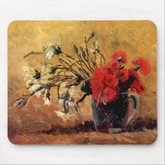 Van Gogh - Vase With Red & White Carnations Mouse Pad