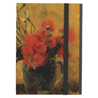 Van Gogh Vase with Red White Carnations on Yellow Cover For iPad Air