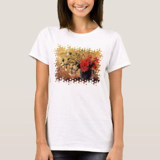 Van Gogh - Vase With Red & White Carnations T-Shirt