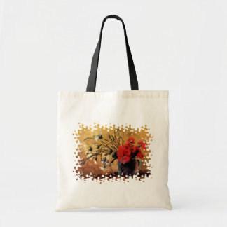 Van Gogh - Vase With Red & White Carnations Tote Bag