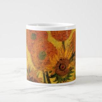 Van Gogh Vase with Sunflowers, Fine Art Flowers Giant Coffee Mug