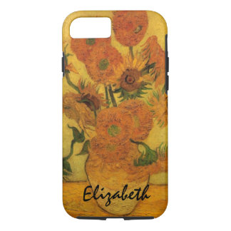 Van Gogh Vase with Sunflowers, Fine Art Flowers iPhone 7 Case