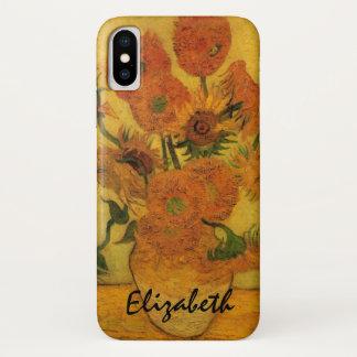 Van Gogh Vase with Sunflowers, Fine Art Flowers iPhone X Case