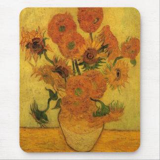 Van Gogh Vase with Sunflowers, Fine Art Flowers Mouse Pad
