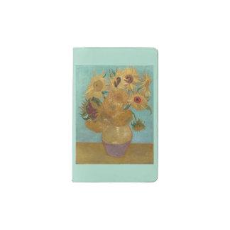 Van Gogh Vase with Twelve Sunflowers Pocket Moleskine Notebook Cover With Notebook