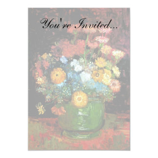 Van Gogh - Vase With Zinnias Card