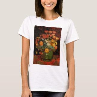 Van Gogh Vase with Zinnias Vintage Floral Fine Art T-Shirt