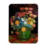 Van Gogh - Vase With Zinnias Vinyl Magnets
