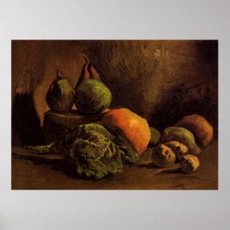 Van Gogh Vegetables Fruit, Vintage Still Life Art Poster