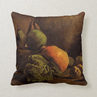 Van Gogh Vegetables Fruit, Vintage Still Life Art Throw Pillow