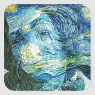 Van Gogh Venus Square Sticker