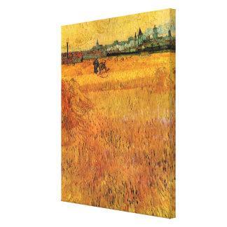 Van Gogh View from Wheat Fields in Arles, Fine Art Canvas Print