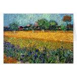 Van Gogh View Of Arles With Irises Greeting Card