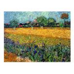 Van Gogh View Of Arles With Irises Postcard