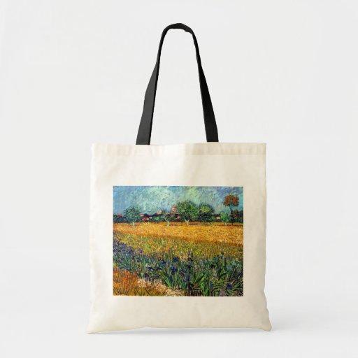 Van Gogh View Of Arles With Irises Tote Bag