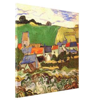 Van Gogh View of Auvers, Vintage Cottage Fine Art Canvas Print