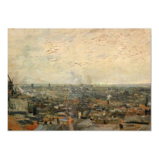 Van Gogh View of Paris from Montmarte, Fine Art Card