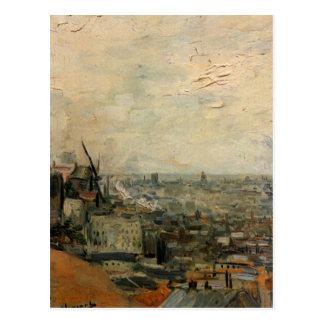 Van Gogh View of Paris from Montmarte, Fine Art Postcard