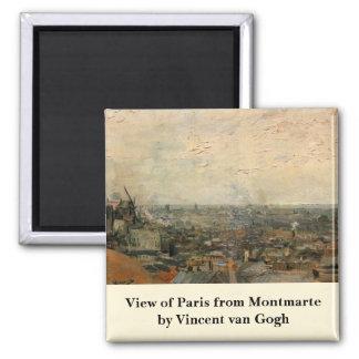 Van Gogh; View of Paris from Montmarte Magnets