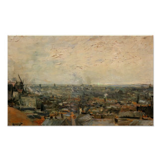 Van Gogh - View of Paris from Montmartre Poster