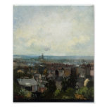 Van Gogh - View of Paris from near Montmartre Print