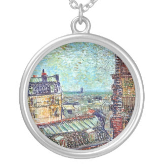 Van Gogh - View Of Paris From Vincents Room Custom Jewelry